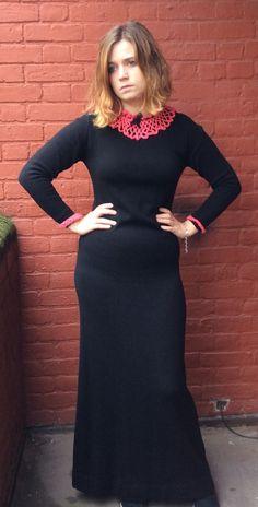john laing vintage 70s cashmere maxi dress by jampops on Etsy