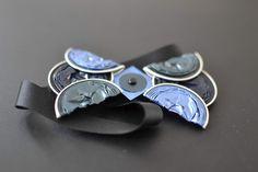 Noeud papillon bleu en Capsules Nespresso recyclées