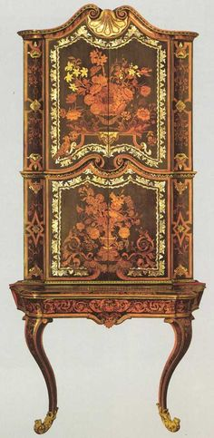 Wall Table with cupboard - Period 1731-1733 Turin, The Royal Palace. Pietro Piffetti (1701-1777).