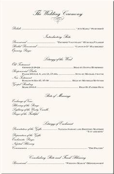 wording examples wedding ceremony programs wedding program examples wedding program wording wedding ceremony