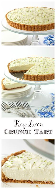 Key Lime Crunch Tart With a crunchy coconut-almond shortbread crust and a creamy, light, key lime filling, this easy, make-ahead dessert is ALWAYS a hit! via The Café Sucre Farine Lime Recipes, Tart Recipes, Dessert Recipes, Cooking Recipes, Fudge Recipes, Make Ahead Desserts, Just Desserts, Delicious Desserts, Yummy Food
