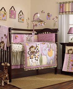 Bedroom , Cozy Purple Theme Girl Nursery Ideas : Lambs And Ivy ...