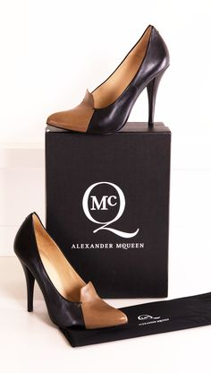 ALEXANDER MCQUEEN HEELS @Michelle Coleman-HERS  - I'm sorry! Calf leather! Ack! But these shoes are stunning!