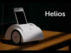 Helios: your iPhone transforms into a mobile telepresence robot.  by Tian Long Wang, via Kickstarter.