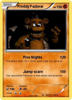 five nights at freddys cards all | Language Card : english