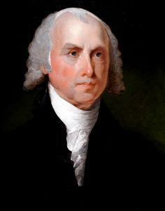 President James Madison portrait at National Art Gallery, Washington D. [portrait by Gilbert Stuart] James Madison, Presidents Wives, American Presidents, Famous Presidents, Us History, American History, History Facts, Monroe Doctrine, Gilbert Stuart