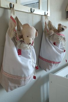lovely christmas drawstring bags