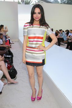 Sofia Carson Photos Photos - Sofia Carson attends Belusso fashion show during Mercedes-Benz Fashion Week Swim 2015 at Oasis at The Raleigh on July 20, 2014 in Miami, Florida. - Belusso - Front Row - Mercedes-Benz Fashion Week Swim 2015