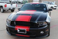 2014 black mustang GT 5.0 | 2013-2014 Mustang Full Length Stripes from Big Worm Graphix