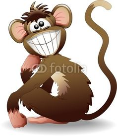 Funny Monkey-Vector © bluedarkat