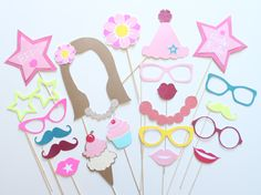 22pc American Girl Themed Photobooth Props/Girls Photo Booth Props by ThePartyGirlStudio on Etsy