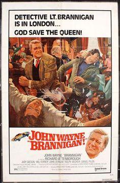 """Anybody like JOHN WAYNE? Here are some of my items in my Ebay store featuring """"THE DUKE""""!  BRANNIGAN -1975- original 27x41 movie poster - JOHN WAYNE, RICHARD ATTENBOROUGH"""