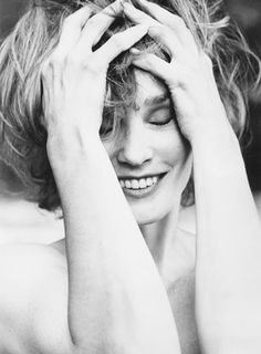 Jessica Lange, photographed by Herb Ritts.  She  has only evolved ... her role in American Horror series on FX is unreal!!