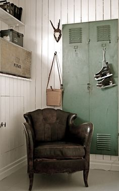 Lockers Built into the wall-Great Idea: The New Victorian Ruralist: January 2012