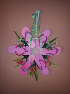 Flip flop wreath for Mom