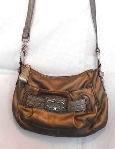Sienna Ricchi Small Brown Crossbody Bag Reptile 6,1,10,25, Adornment 5 Pockets #SiennaRicchi #MessengerCrossBody