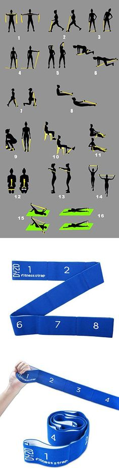 Yoga is better than jogging - Flexibility Resistance Band Yoga Belt with 8 Loops, Yoga Strap Stretch Strap Exercise Strap (Blue) Yoga Fitness. Introducing a breakthrough program that melts away flab and reshapes your body in as little as one hour a week! Fitness Workouts, Yoga Fitness, At Home Workouts, Fitness Classes, Fitness Brand, Fitness Quotes, Motivation Quotes, Fitness Motivation, Resistance Workout