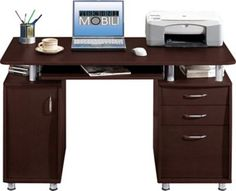 Shop Staples® for TechniMobili® Double Pedestal Computer Desk, Chocolate and enjoy everyday low prices, plus FREE shipping on orders over $39.99. Get everything you need for a home office or business right here.