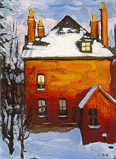 Lawren Harris Red House, Winter oil on canvas 88 x 103 cm 1925 Lawren Harris The Corner Store 1912 Lawren Harris Little ...