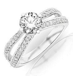 Jewelry & Watches Strong-Willed 0.65 Carat Round Cut Real Diamond Ring 14k White Gold Wedding Rings Size M N I P