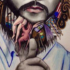 David Choe Fan Art by @jennifergriffo #details #art #draw #drawing #pencil #marker #coloredpencil #artist #artwork #surreal #surrealist #surrealism #jail #fuckboy #paint #graffiti #spraypaint #drums #music #thumbsup #america #dvdasa #kgb #davidchoe @davidchoe