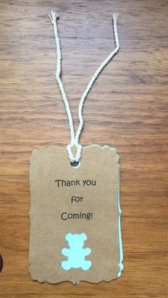 Teddy Bear 'Thank you for coming' gift tags for Baby Showers, Birthdays | eBay
