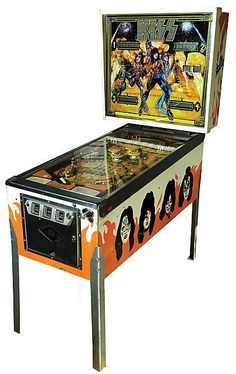Vintage KISS pinball machine