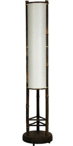"""Oriental Furniture Fine Quality Asian Style Furniture and Decor 3-Feet, 36-Inch Koru Japanese Bamboo and Rice Paper Shade Floor Lamp Lantern by Oriental Furniture. $103.00. 39"""" tall by 8"""" diameter, simple, beautiful japanese design floor lamp. Durable rice paper shade reinforced with tear and puncture resistant polyester fiber. Hand crafted from kiln dried rustic finish bamboo pole on heavy wood base. Us standard size bulb socket, ul approved power cord, socket and wheel ..."""