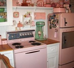 Pink Retro Kitchen.