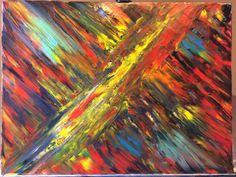 Ночной Warm порыв Abstract Oil Painting #mypainting #oil #paint #art #abstract