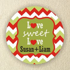 Love Sweet Love  Christmas Wedding Labels  by MMGraphicDesigns