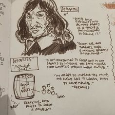 Photo Entry: #Descartes #ninjasonmotorcycles #Twitter #sketch #quotes #reference