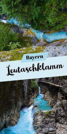 Ausflugsziel Leutaschklamm in Bayern/Tirol The Leutasch Gorge is a gorge near Mittenwald and lies in the border forest between Bavaria Travel Images, Travel Photos, Travel Around The World, Around The Worlds, Hiking Photography, Street Photography, Landscape Photography, Portrait Photography, Fashion Photography