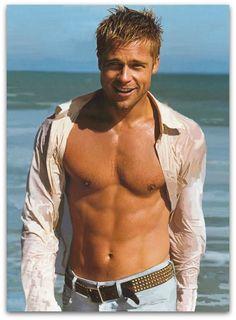 Brad Pitt Shirtless...LIKE THE PIN PIC... OMG!!..I AM GOING TO MAKE A SHIRTLESS BOARD...