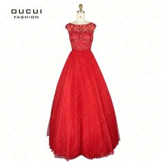 Real Photos Tulle Fabric cap Sleeve Beading Hand work Boat Neck Long Prom Dress 2014 OL102445