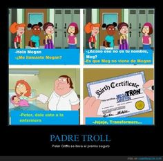 Meg no viene de Megan, viene de... - Peter Griffin se lleva el premio seguro