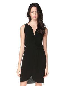 Idano - Robe noire taille ealstiquee Rosa