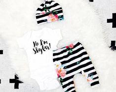 Tenue fille floral bébé ensemble, vêtements de bébé très tendance pour les filles, ensemble bébé fille prendre la maison, tenue de fille de bébé mignon