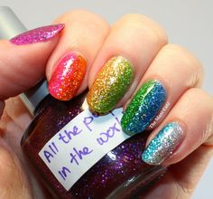 The Mani Café: Superficially Colorful Lacquer - My Favourite Things Gradient themanicafe.com