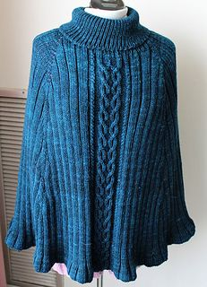 Celtic Princess Poncho by Wendy D. Johnson  worsted weight