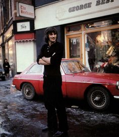 Manchester United and Northern Ireland footballer George Best at his Manchester boutique - UK - 6 January 1976