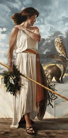 #Bryan #Larsen Fine Art | Retrospection [#Athena with her Owl] | ...Larsen is a romantic realist painter based in Utah. His work can be found in private art collections around the world. He is exclusively represented by Quent Cordair Fine Art in Napa, California.
