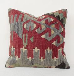 SALE   Decorative Pastel Kilim Pillow Pale Red n' by Sheepsroad, $68.00