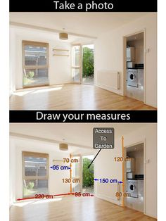 Photo Measure Lite: Snap a picture of your space, then add in measurements for a visual reminder of the dimensions. You can organize photos by room, too.  Device: Apple