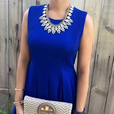 HPNWT BCBG MaxAzria Royal Blue Dress! Gorgeous color!! You will not be disappointed with this dress! Size small. Can fit between a size 2 and 4. It's a zipper back. BCBGMaxAzria Dresses