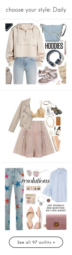 """""""choose your style: Daily"""" by bortelhazelnut ❤ liked on Polyvore featuring Vetements, Sloane Stationery, Ivy Park, Madewell, Marc Jacobs, Hoodies, Zimmermann, Eberjey, Authentic Models and rag & bone"""