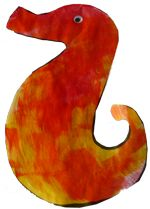 Glue Painted Sea Horse