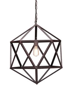 Classic triangular forms create the beautiful symmetry of the Amethyst ceiling lamp.