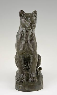 French Bronze Panther Sculpture by Charles Valton, 1910 image 10