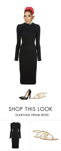 """""""A business meeting; she's about to have her own game! It will be similar to Grand Theft Auto. Sealed the deal. She will need to come back to do some voiceovers with the sound technician"""" by a-andm ❤ liked on Polyvore featuring Givenchy, Gucci and Christian Louboutin"""